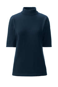 Women's Supima Elbow Sleeve Mock Neck Sweater