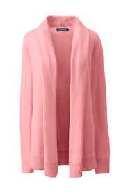 Women's Plus Size Cotton Long Sleeve Open Cardigan Sweater