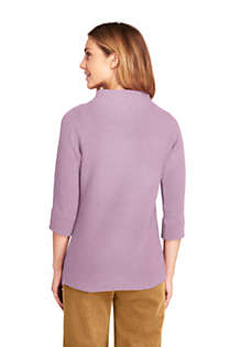 Women's Tall Shaker 3/4 Sleeve Mock Neck Sweater, Back