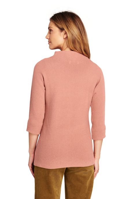 Women's Tall Shaker 3/4 Sleeve Mockneck Sweater