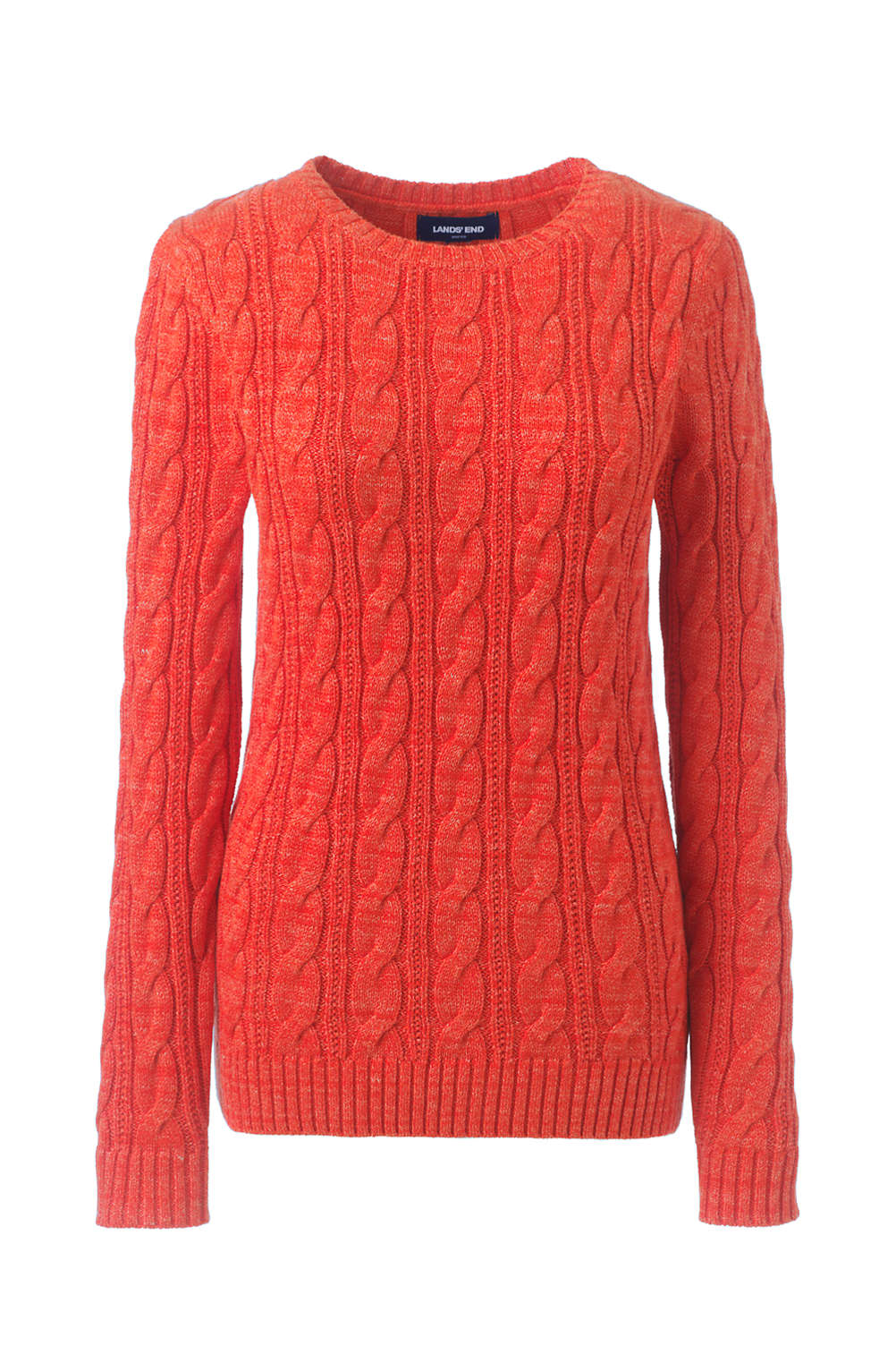 1172fe49caad Women s Drifter Cotton Cable Knit Sweater Crewneck from Lands  End
