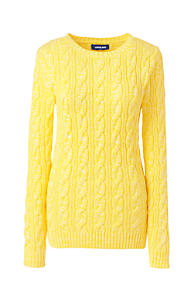 Women s Drifter Cotton Cable Knit Sweater Crewneck 7645d845e3