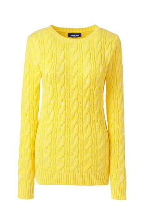 Women's Plus Size Drifter Cotton Cable Knit Crewneck Sweater