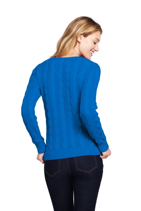 Women's Drifter Cotton Cable Knit Crewneck Sweater