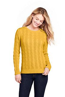 37a4deaff3950d Baumwollpullover DRIFTER mit Zopfmuster für Damen in Normalgröße