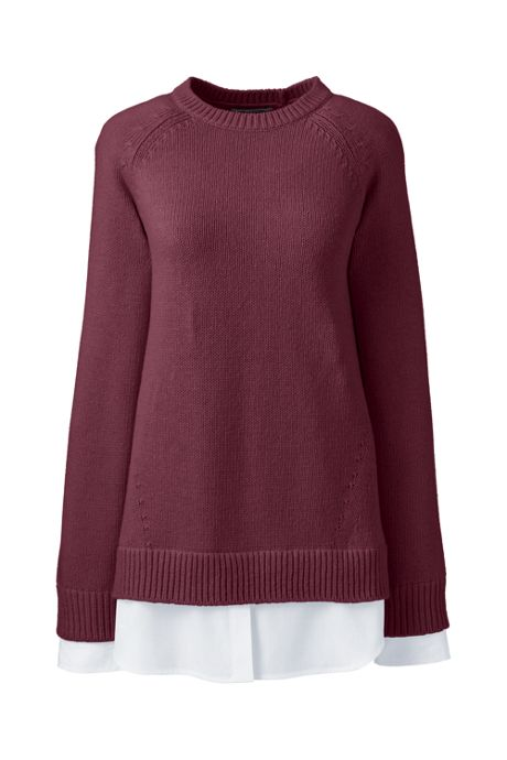 Women's Petite Lofty Blend-Woven Tunic Sweater