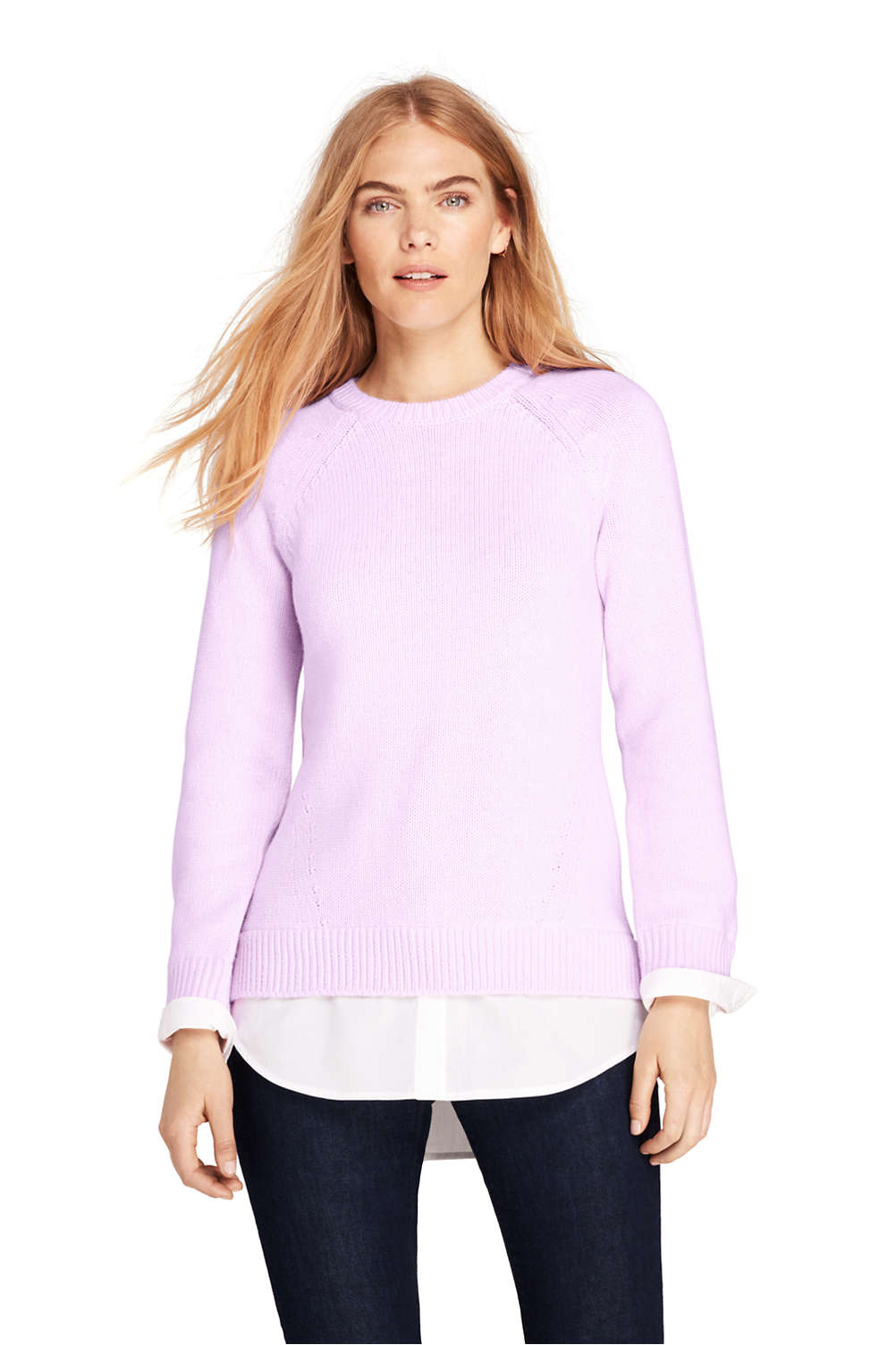 ff938a75090 Women s Lofty Blend-Woven Tunic Sweater from Lands  End