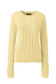Women's Plus Size Lofty Blend Placed Cable Sweater