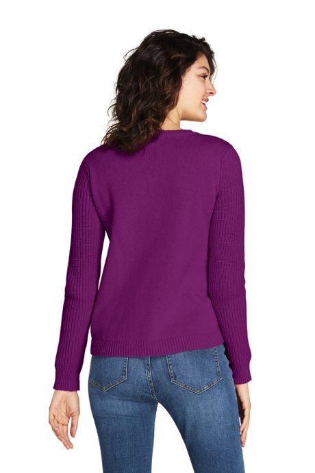 Women's Tall Lofty Blend Placed Cable Sweater