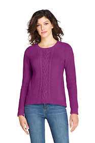 Women's Lofty Blend Placed Cable Sweater