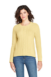 Women's Cable Crew Neck Jumper