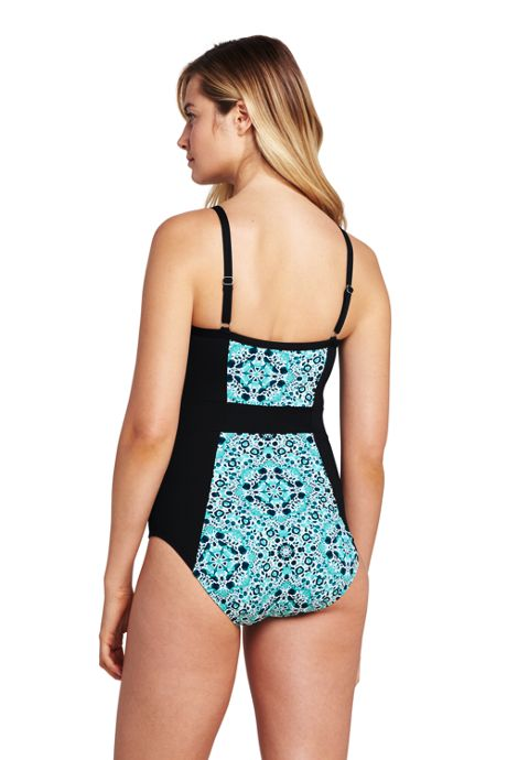 Women's Lattice V-neck One Piece Swimsuit