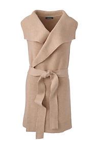 bc242fb3788 Women s Plus Size Sleeveless Lofty Blend Tie Sweater Vest