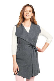 Women's Sleeveless Lofty Blend Tie Sweater Vest