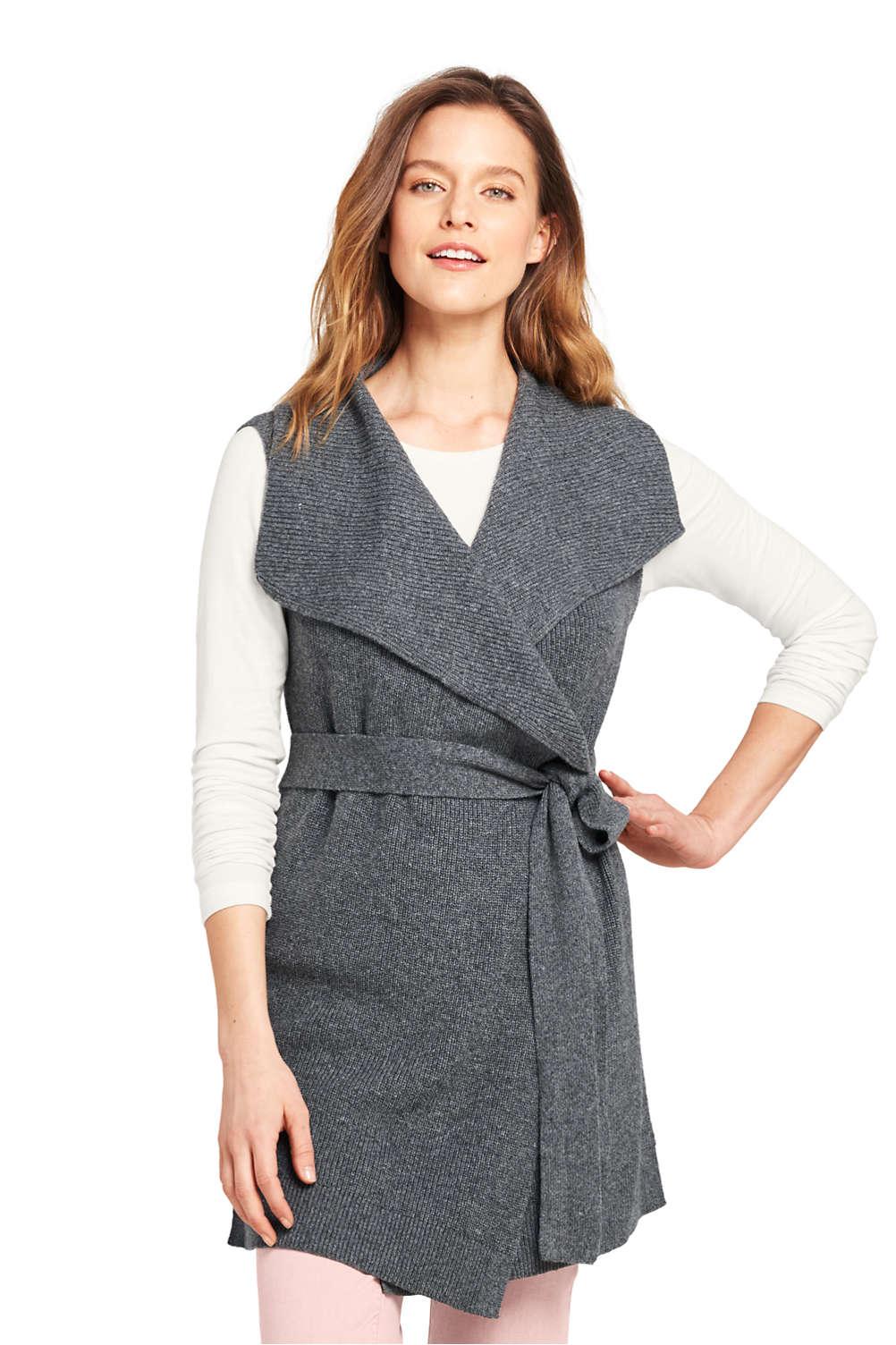 db4be22da0e0 Women's Sleeveless Lofty Blend Tie Sweater Vest from Lands' End
