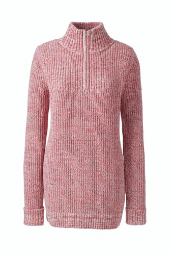 a9d546fd5a9 Women s Plus Size Lofty Blend Quarter-Zip Mock Tunic Sweater