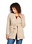 Melierter Cardigan mit Gürtel im Baumwollmix für Damen in Plusgröße