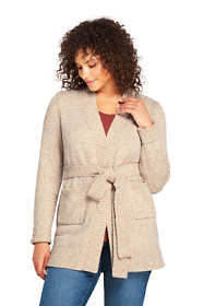 Women's Plus Size Lofty Blend Tie Cardigan Sweater