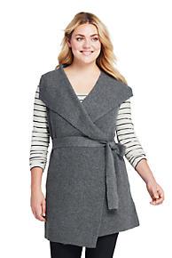 24b8c1d22bb0 Women's Plus Size Sleeveless Lofty Blend Tie Sweater Vest