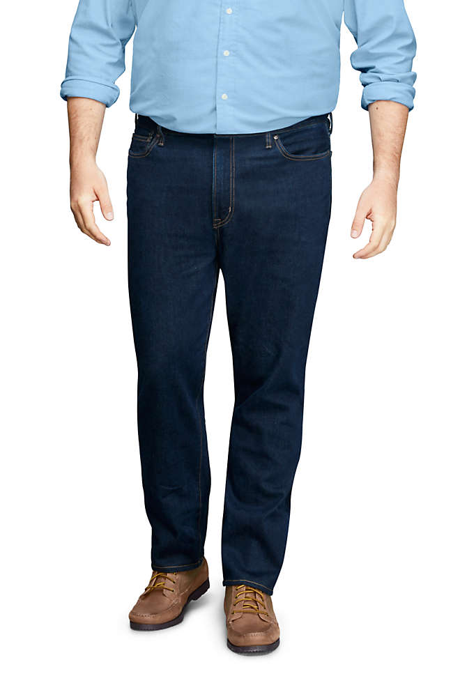 Mens Big and Tall Traditional Fit Comfort-First Jeans, Front