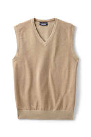 Men's Tall Fine Gauge Supima Cotton Herringbone Vest
