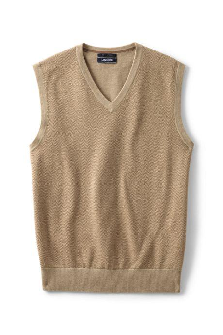 Men's Fine Gauge Supima Cotton Herringbone Vest