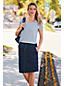 La Jupe Crayon en Denim Doux Stretch, Femme Stature Standard