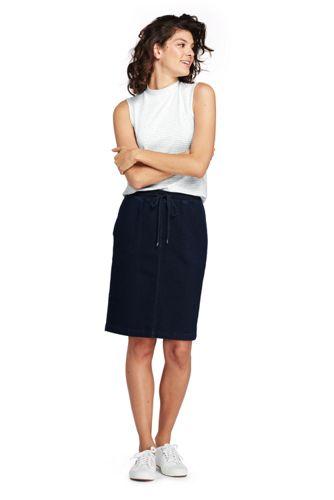 Women's Soft Denim Pull-On Skirt