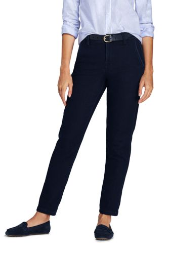 Women's Soft Denim Ankle Length Cropped Jeans