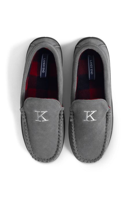 Men's Fleece Lined Suede Moccasin Slippers