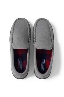 df6c7af4b5093 Men's Suede Moccasin Slippers with Fleece Lining
