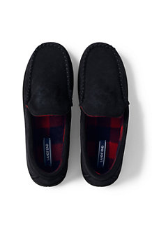 Men's Suede Moccasin Slippers with Fleece Lining