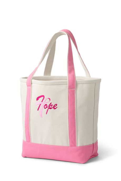 Pink Thread Medium Open Top Canvas Tote Bag