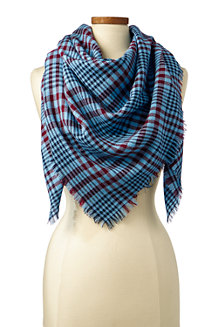 Women's Square Plaid Scarf