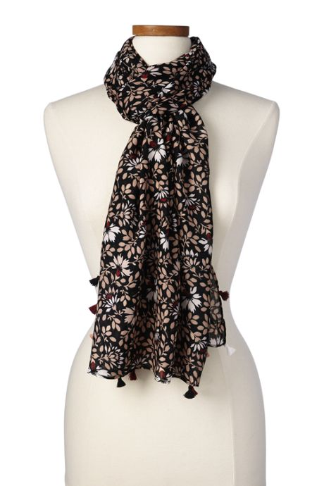 Women's Warm Floral Scarf