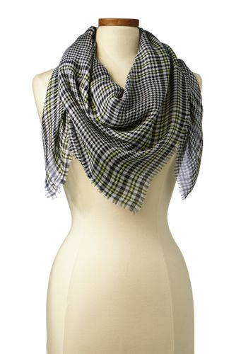 Women's Square Glen Plaid Scarf