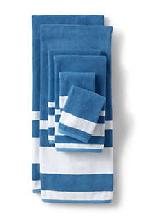Supima Cotton Stripe Bath Towel, Front