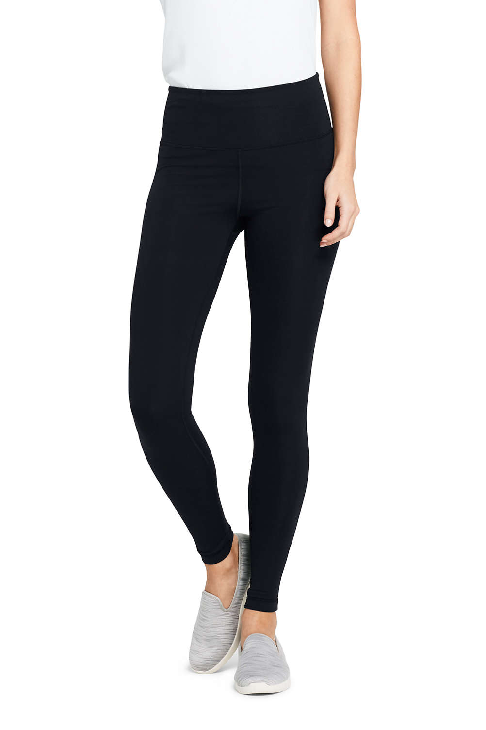 6b0c804a18 Women s Active High Waisted Yoga Leggings from Lands  End