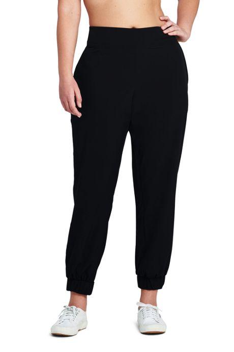 Women's Plus Size Active Woven Stretch Jogger Pants