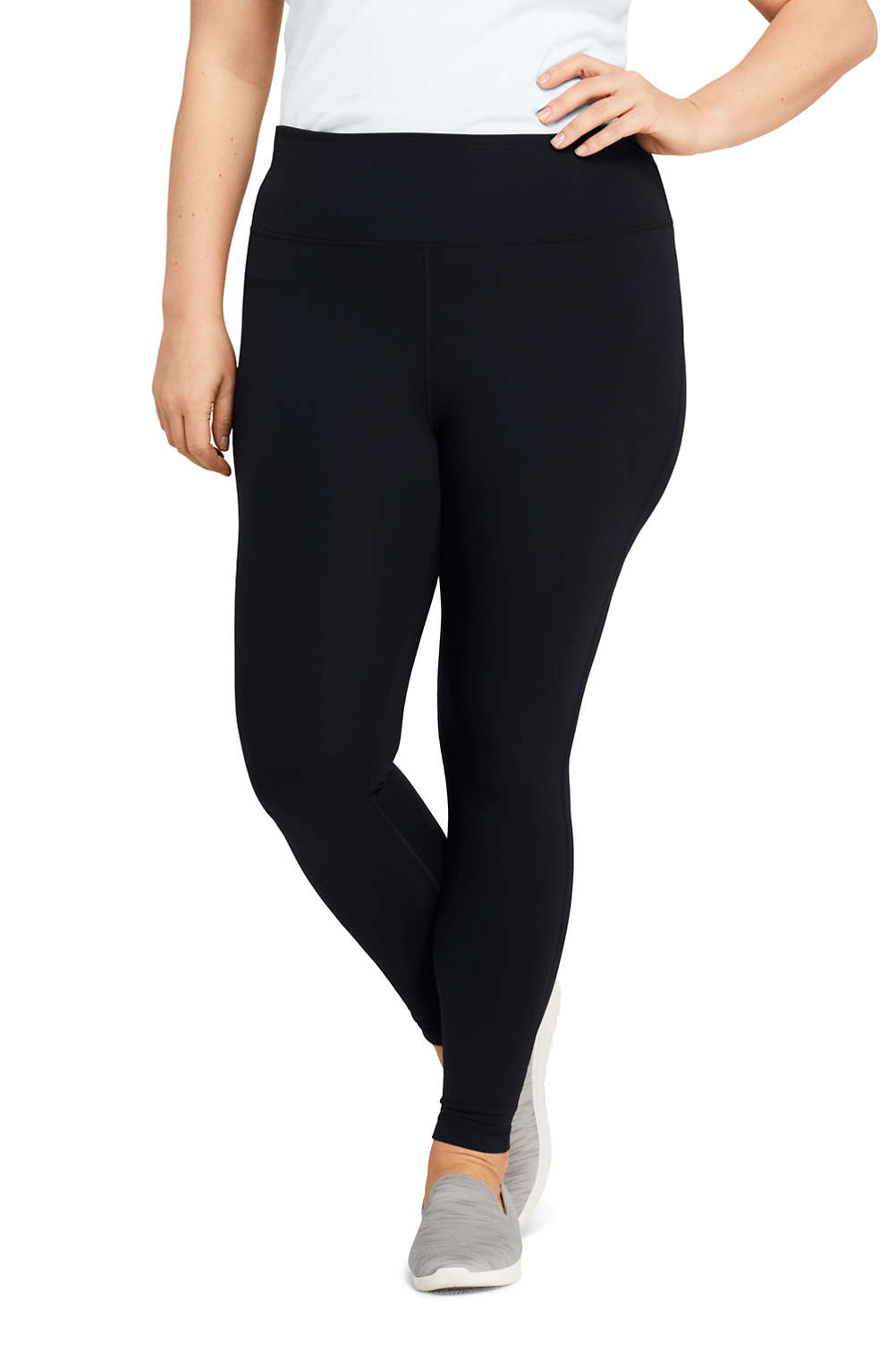 457c212a4e946c Women's Plus Size Active High Waisted Yoga Leggings 2 from Lands' End