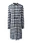 Women's Patterned Tuxedo Bib Dress