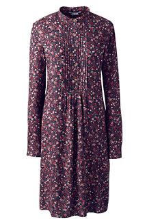 Gemustertes Blusenkleid mit Biesen für Damen