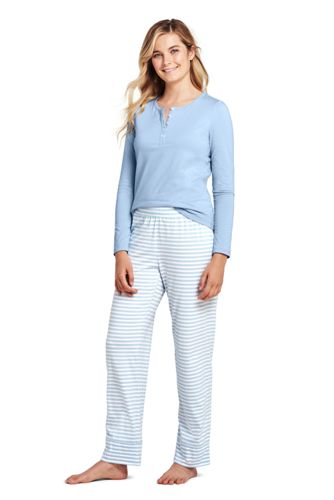 Women's Striped Cotton Modal Pyjama Set