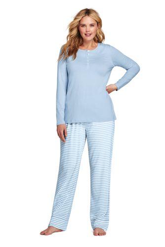 L'Ensemble Pyjama Rayé en Jersey Stretch, Femme Grande Taille
