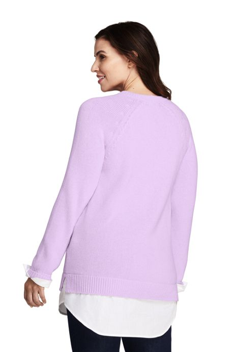 Women's Plus Size Lofty Blend-Woven Tunic Sweater