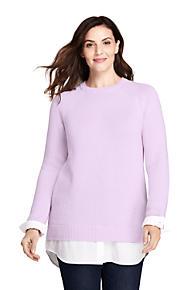 142cb7e6f1e Women s Plus Size Lofty Blend-Woven Tunic Sweater