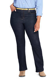 Women's Plus Size Mid Rise Boot Cut Blue Jeans