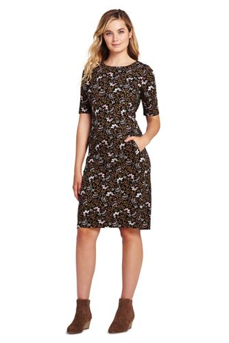 Women's Sleeveless Ponte Portrait Collar Dress