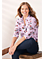 Women's Plus Blouse in Super-soft Brushed Viscose