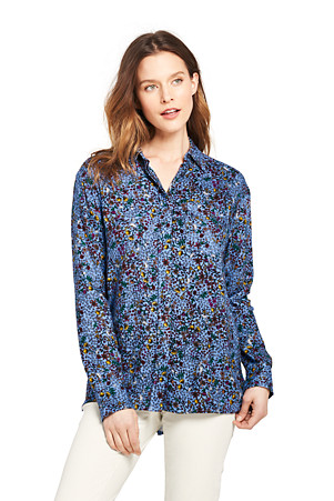 Buy Authentic official price super cheap compares to Women's Blouse in Super-soft Brushed Viscose   Lands' End